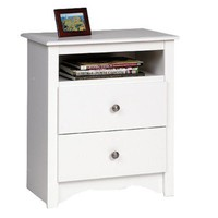 Monterey Open Shelf Nightstand - White