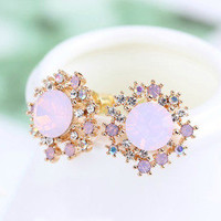 pgfancy- fashion online shopping mall — [grxjy530066]Rhinestone opal earrings