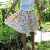 ON SALE Spring Butterfly Skirt / Colorful Buterfly Midi Skirt in Orange, Yellow, Green, Pink and Purple / Ready to Ship