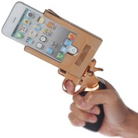 Tpwinner Pistol Gun Case for Iphone 5 Metal New Hot Cool + Screen Clean Cloth (gold)