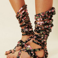 Jeffrey Campbell Romana Floral Sandal at Free People Clothing Boutique