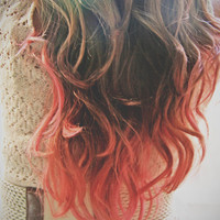 C O R A L I N A  coral pink colored human hair door LulusGalaxy