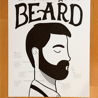 How to Groom a Gentleman's Beard fine art Print - 8x10