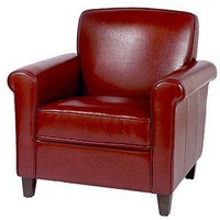 Sullivan Bonded Leather Chair, Red - Chairs and Ottomans - Cost Plus World Market