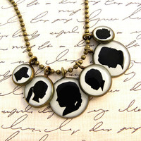 $30.00 Custom Child or Pet Silhouette Necklace by craftedbykerstin