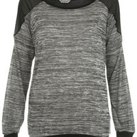 Grey Spacedye Sweat - Tops - Apparel - Miss Selfridge US