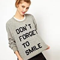 Ashish Exclusive to ASOS Dont Forget To Smile Sweatshirt at asos.com