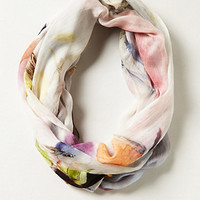 Avian Watercolor Infinity Scarf