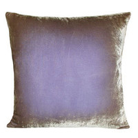 kevin o'brien ombre velvet pillow - lilac - ABC Carpet & Home
