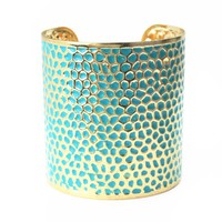 Pretty Pebbles Cuff Bracelet In Blue