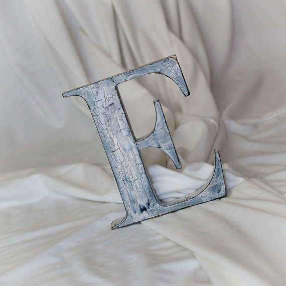 Distressed 16 inch wood letters shabby from for 16 wooden letters