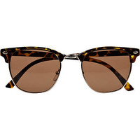 Brown tortoise shell retro sunglasses - retro sunglasses - sunglasses - men