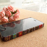 Handmade Tribal Stripe Pattern Fabric iPhone Case
