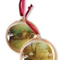 Winter Pastorale Diorama Ornaments