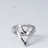 Cutout Chevron Ring