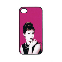 Rubber iPhone Case Audrey Hepburn iPhone 4 iPhone 4 by caseOrama