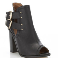 Abby Black Peep Toe Rand Boot - View All  - New In