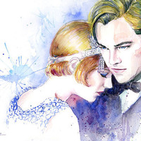 Watercolor painting - Great Gatsby