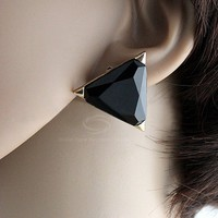 Pair of Fashionable Geometric Shape Alloy Earrings For Women
