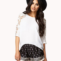 Crocheted Dolman High-Low Top | FOREVER 21 - 2074901182