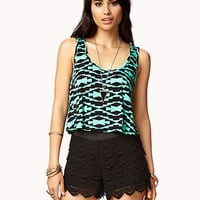Geo Tribal Print Crop Top