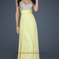 Yellow La Femme Prom Dress