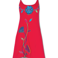 NEW! Wild Flowers Red Dress: Soul-Flower Online Store