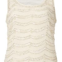 Pearl Embellished Vest - Tops  - Clothing