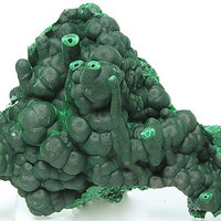 Dark Green Stalactitic Botryoidal Malachite Natural Mineral Specimen