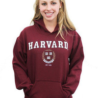 Harvard Hooded Crest Sweatshirt - The Harvard Shop