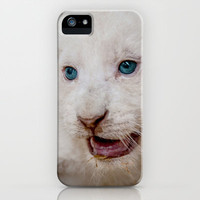 I IZ FIERCE WHITE LION CUB iPhone & iPod Case by catspaws