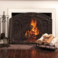 Aspen Single Screen Fireplace Collection