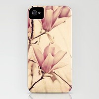 Pink Japanese Magnolia iPhone Case by Erin Johnson | Society6