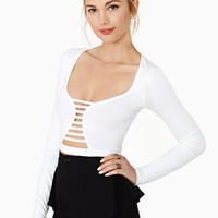 Wildest Dreams Crop Top - White