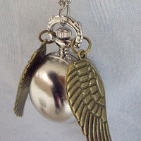 Enchanted Steampunk Silver snitch with Double Sided by qizhouhuang