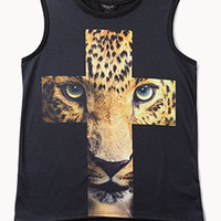 Leopard Cross Muscle Tee