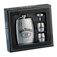 Jack Daniel?s Barrel Flask/Gift Set