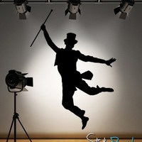 Vinyl Wall Decal Sticker Tap Dancer 72inX50in item AC186 | stickerbrand - Housewares on ArtFire
