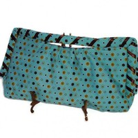 Turquoise Brown Clutch Purse One of a Kind | kathisewnsew - Bags & Purses on ArtFire