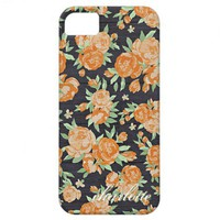 Vintage Floral Print on Wood Personalized Trendy from Zazzle.com