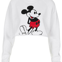 Mickey Crop Sweat - Urban Education - Clothing - Topshop USA
