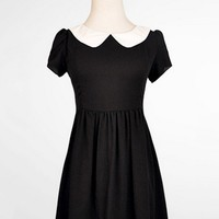 Sweet Peter Pan Collar Chiffon Mini Dress - OASAP.com