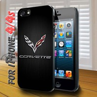 corvette racing logo Black Case for iphone 4 / 4s