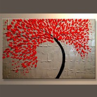 Amazon.com: Modern Abstract Ready to Hang Stretched Canvas Oil Painting: Home & Kitchen