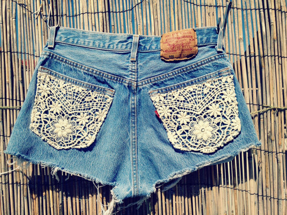 Vintage Levis Denim High Waist Cut by UnraveledClothing