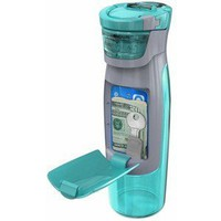 Contigo AUTOSEAL Kangaroo Water Bottle with Storage Compartment, 24-Ounce