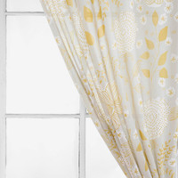Plum & Bow Sketch Floral Curtain