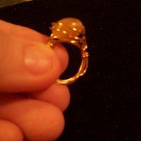 Vanilla Bean Gold Wrapped Ring