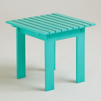 Blue Turquoise Classic Adirondack Side Table