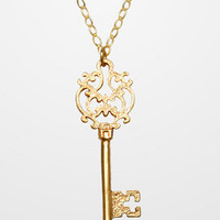 Antique Skeleton Key Necklace | Gold Key Necklace | fredflare.com